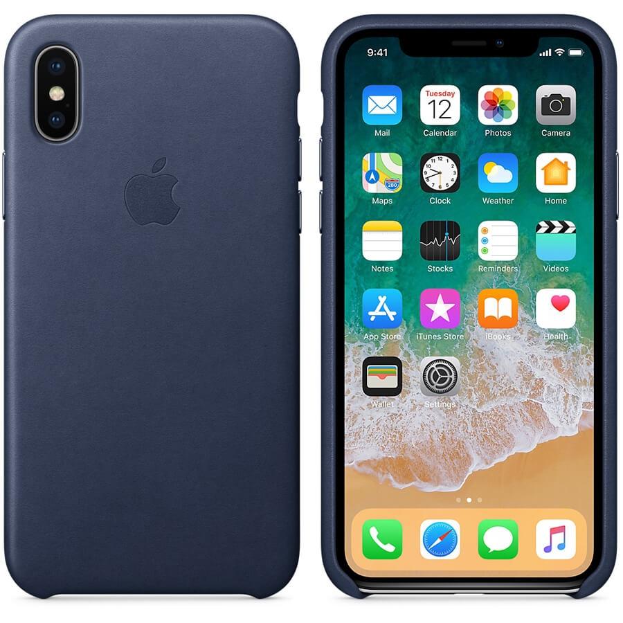 Coque en cuir Apple pour iPhone X : accessoires - Bouygues telecom