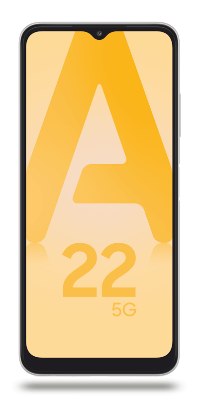 Visuel du téléphone mobile Samsung Galaxy A22 5G