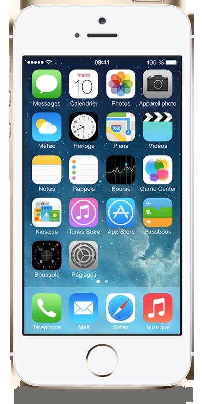 t l phone apple iphone 5s 16go or avec forfaits sans. Black Bedroom Furniture Sets. Home Design Ideas