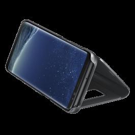 Étui Clear View Noir avec fonction Stand Galaxy S8+  Noir