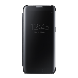 Clear View Cover Noir Galaxy S7 edge  Noir