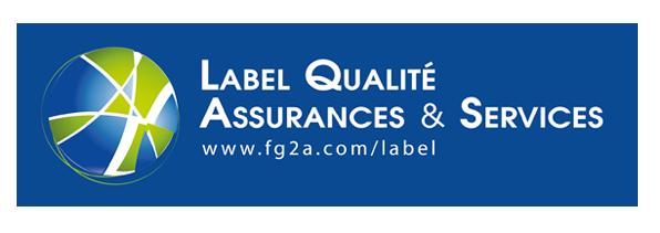logo label fond bleu