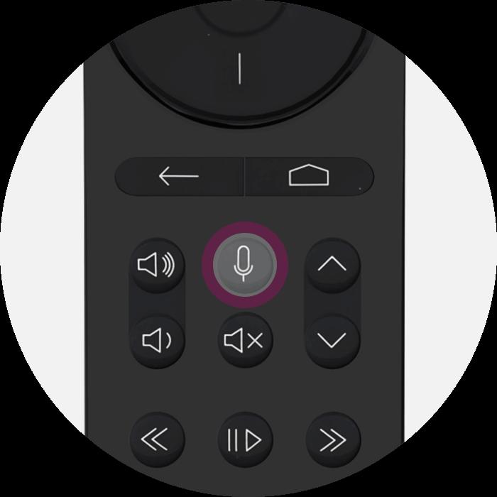 Image de la première étape, appuyez sur la touche représentant un microsur la télécommande de votre Bbox - Bouygues Telecom