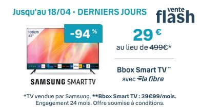 Samsung Smart TV Vente Flash | Bouygues Telecom