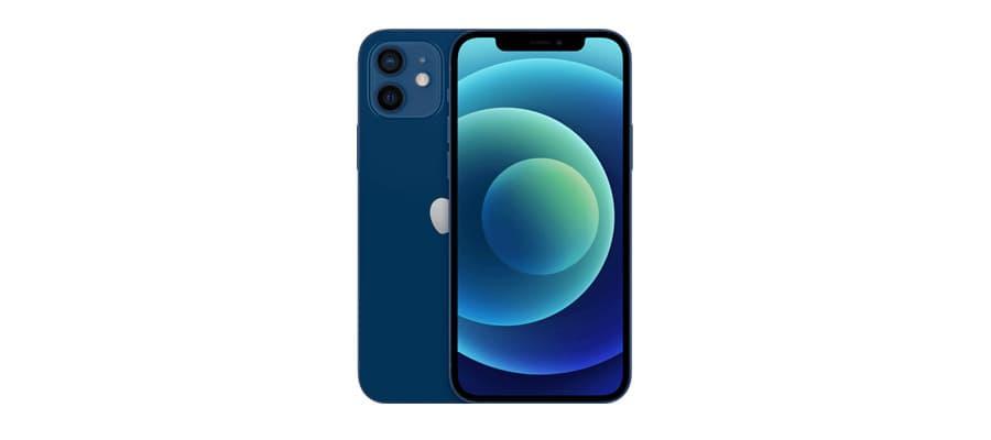 apple iphone 12 face dos bleu