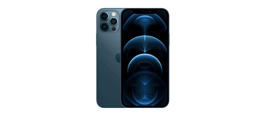 apple iphone 12 pro face dos bleu