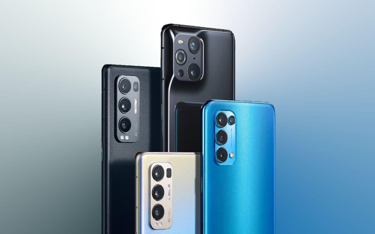 oppo find x3 serie dos bleu noir
