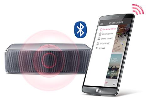 Application LG Music Flow Bluetooth