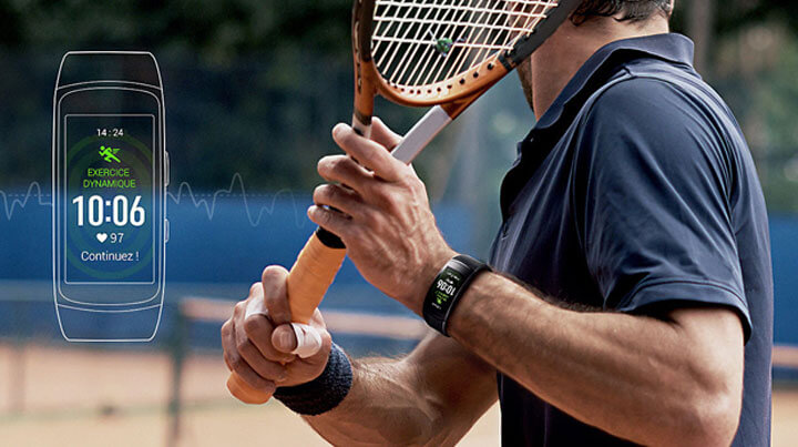 Samsung Gear Fit2 - Suivi de votre fréquence cardiaque tout au long de la journée