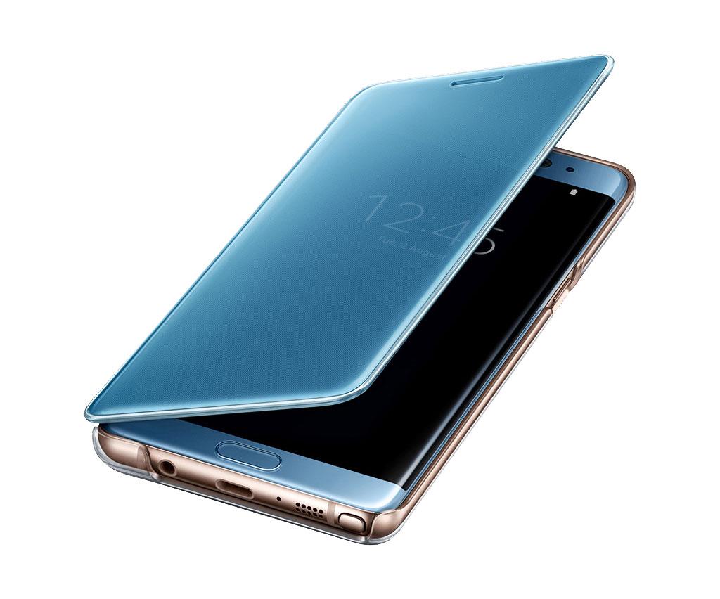 Etui Clear View bleu Galaxy Note 7
