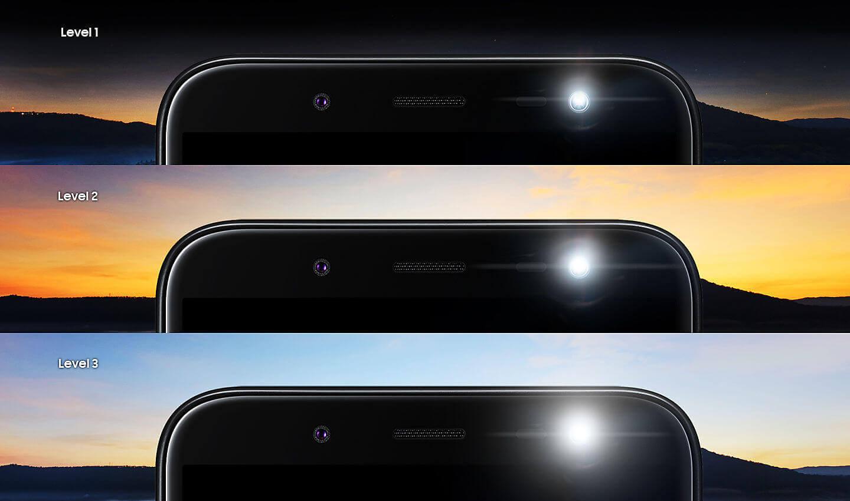 Trois niveaux de luminosité.