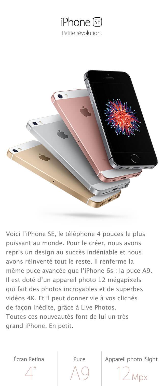 iPhone SE petite révolution