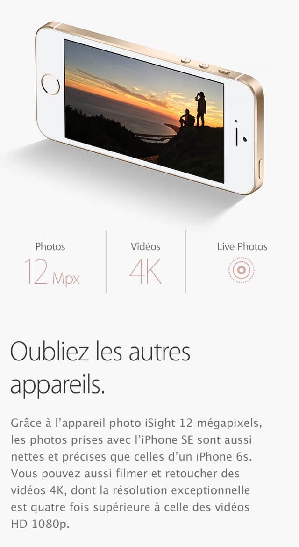 iPhone SE iSight