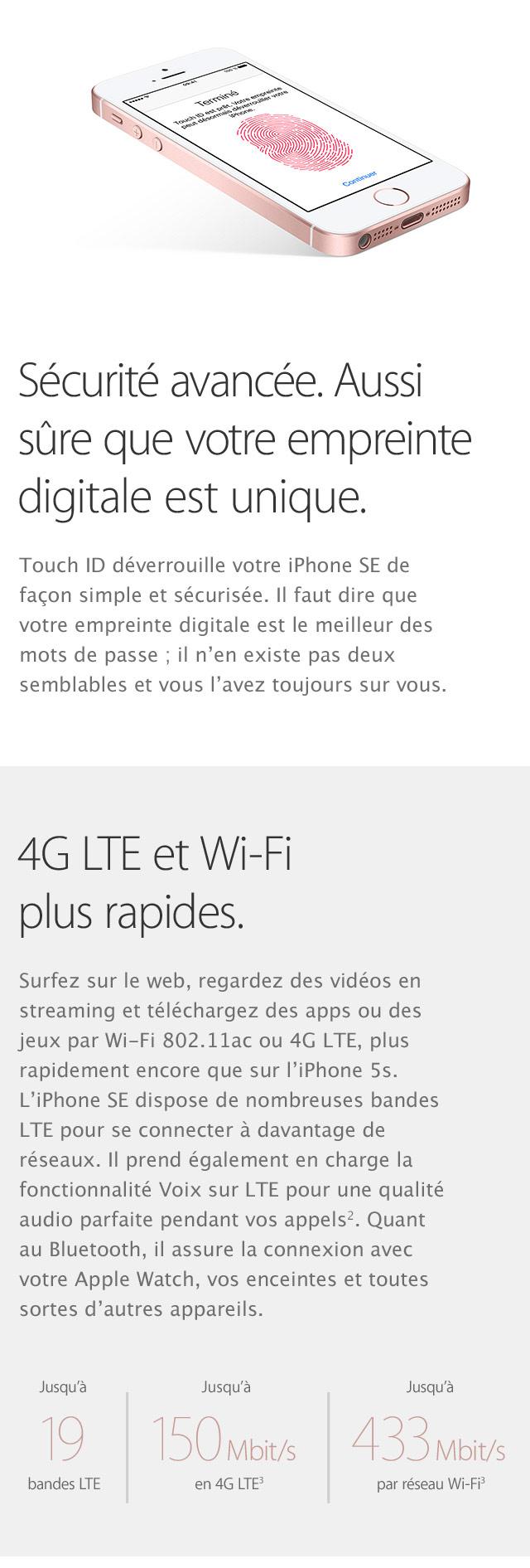 iPhone SE Securite