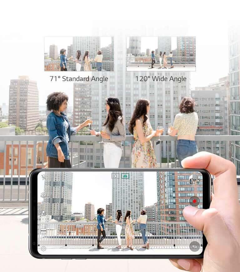 LG V30 - Appareils photo grand-angle