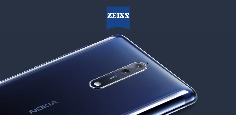 Nokia 8 - Caméras 13 MP ultrafines avec optique ZEISS
