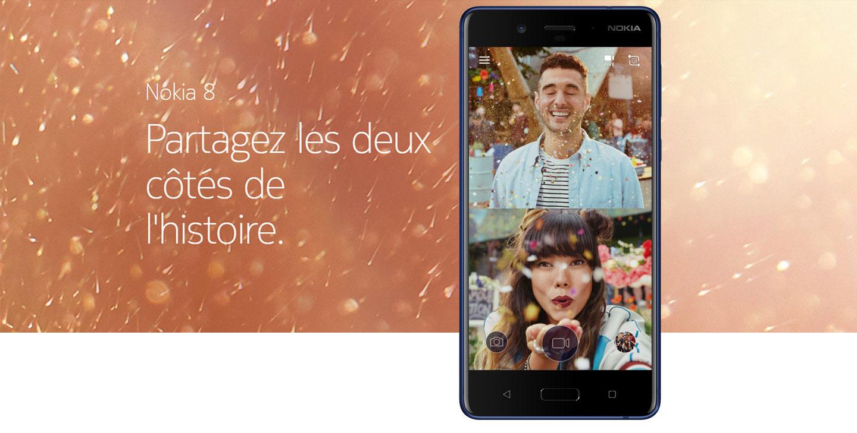 Nokia 8 - Soyez moins Selfie. Soyez plus #Bothie.