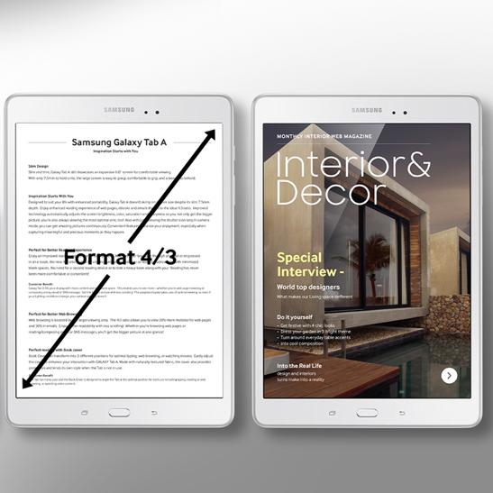 TAB A 9.7 experience multimedia optimisee Mobile
