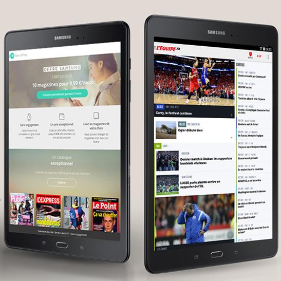 TAB A 9.7 plus de contenus Mobile