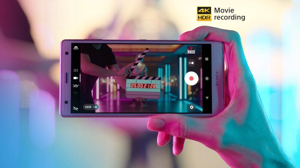 Sony XZ2 - Le premier enregistrement vidéo 4K HDR au monde dans un smartphone