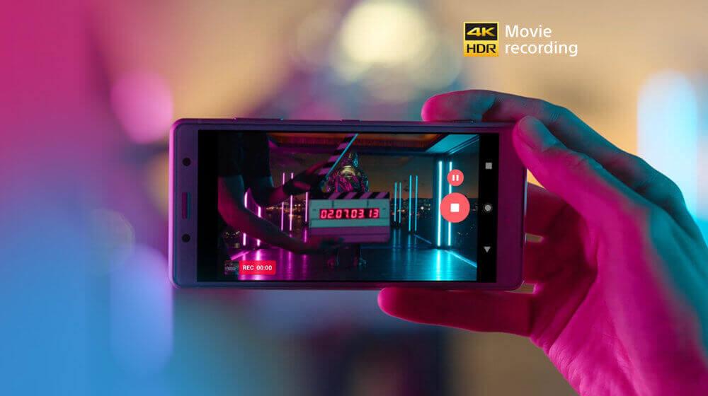 Sony XZ2 Compact - Le premier enregistrement vidéo 4K HDR au monde dans un smartphone