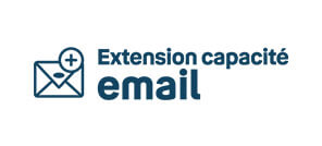 Extension capacité email