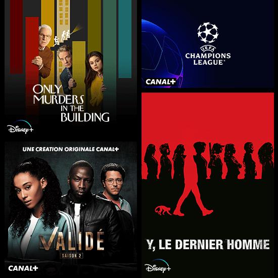 affiche Champions league sur canal