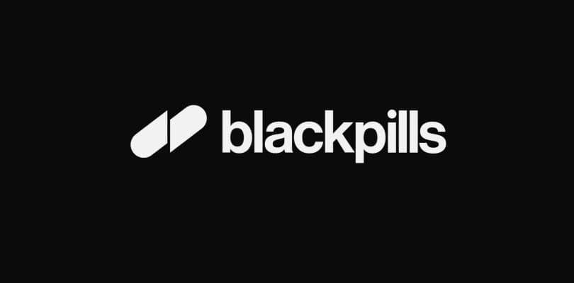 blackpills blanc fond noir