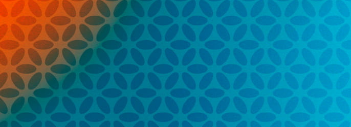 Pattern logo orange bleu