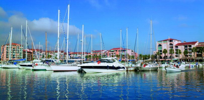 ville argeles port bateaux immeubles