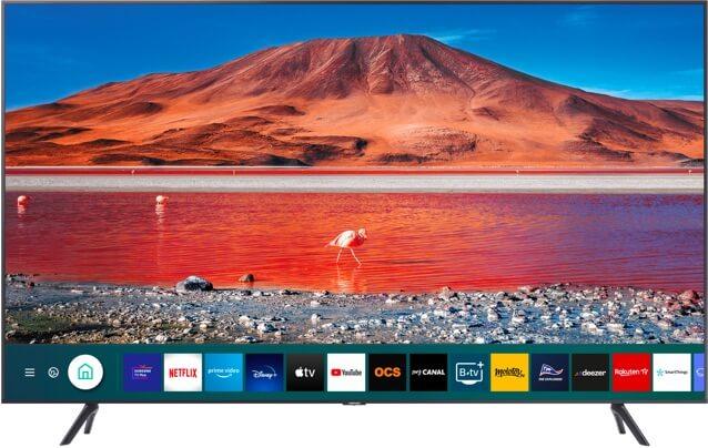 Visuel du logo et de la télé Samsung Smart TV