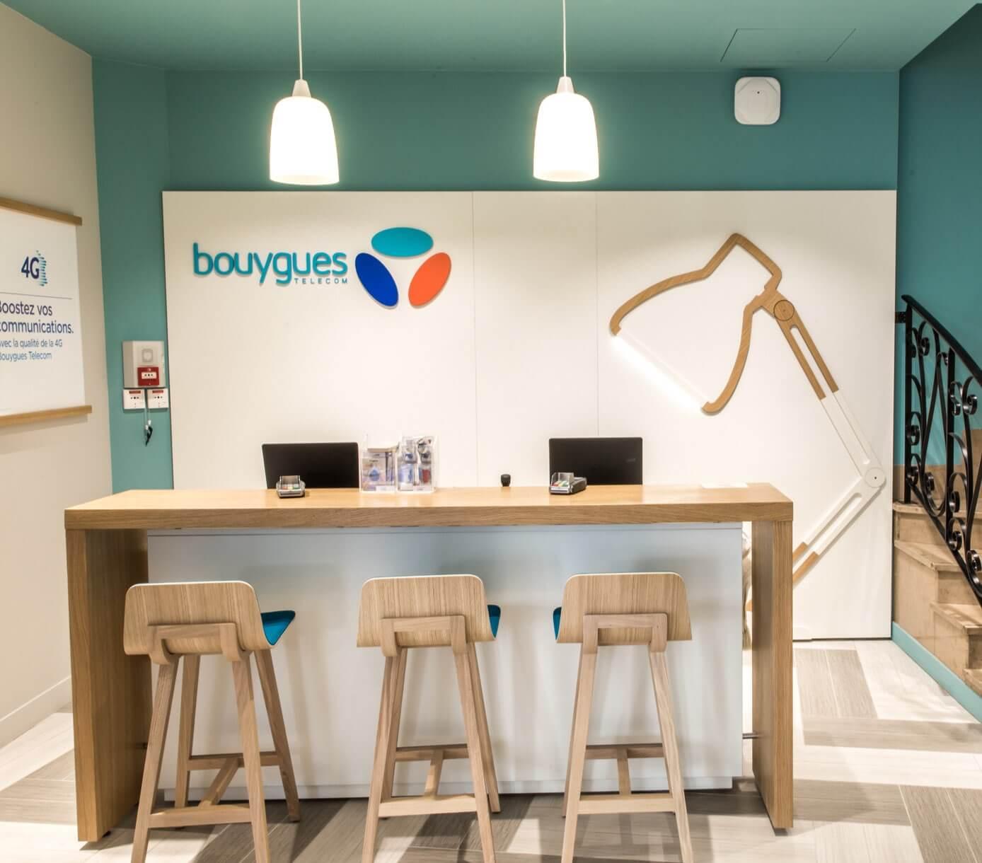 Intérieur d'une boutique Bouygues Télécom