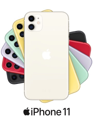 iPhone 11 gamme color eventail