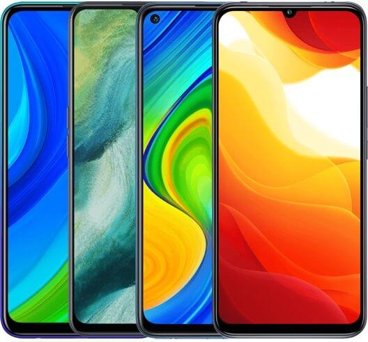 Image de 4 smartphones à petits prix