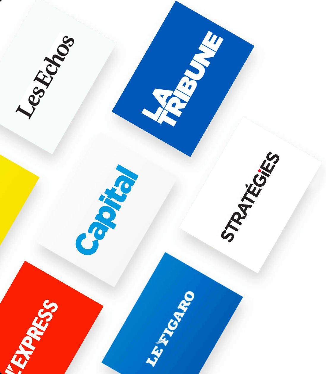 Mosaïque logos magazine Cafeyn